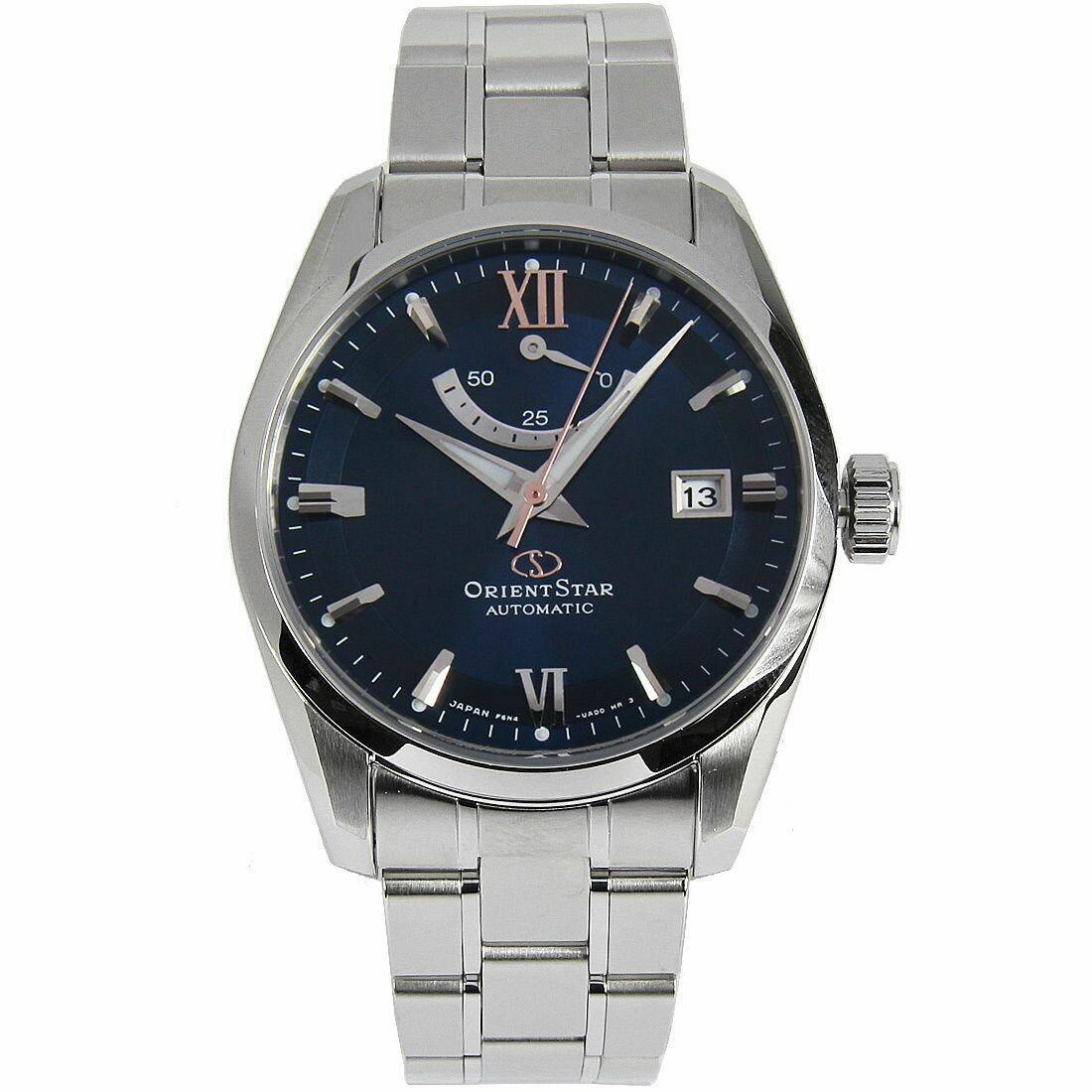 Reloj automático hombre Orient Star RE-AU0005L dial azul cristal zafiro correa de acero 100m WR