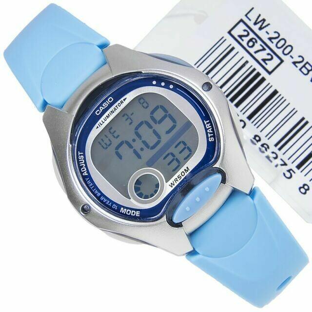 Reloj digital casio lw200-2b cronografo multifuncion electroluminiscente
