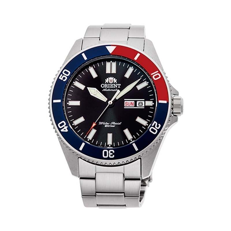 "Reloj Automático hombre Orient Ray III RA-AA0912B ""pepsi"" dial azul 43,6mm correa acero 200m WR"