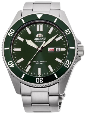 Reloj Automático hombre Orient Ray III RA-AA0914E dial verde 43.6mm correa acero 200m WR