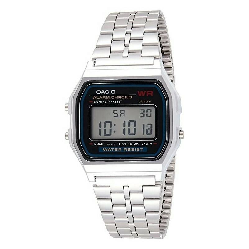 Reloj Casio UNISEX a159wa-1d water resistant clásico luz led