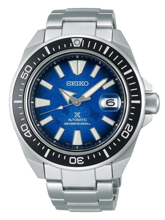 Reloj Automático hombre buceo Seiko Prospex SRPE33K1 Samurai Manta Ray Save the Ocean dial azul 43.8mm Zafiro