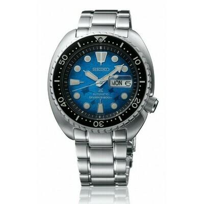 Reloj Automático hombre buceo Seiko PROSPEX SRPE39K1 King Turtle - Save The Ocean Manta Ray dial azul 45mm Zafiro