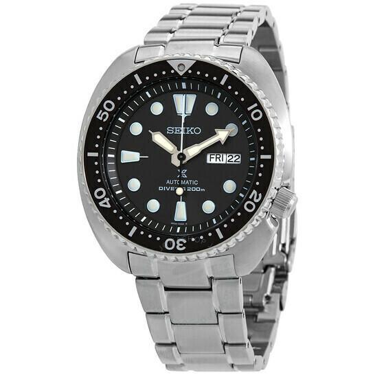 Reloj Automático buceo hombre Seiko Prospex SRPF13K1 Gray Turtle dial gris 45mm Hardlex correa acero 200m WR