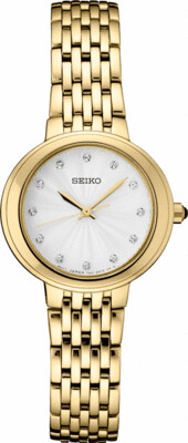 Reloj mujer Seiko SRZ504P1 dial 28.5mm cristal Hardlex 50m water resist