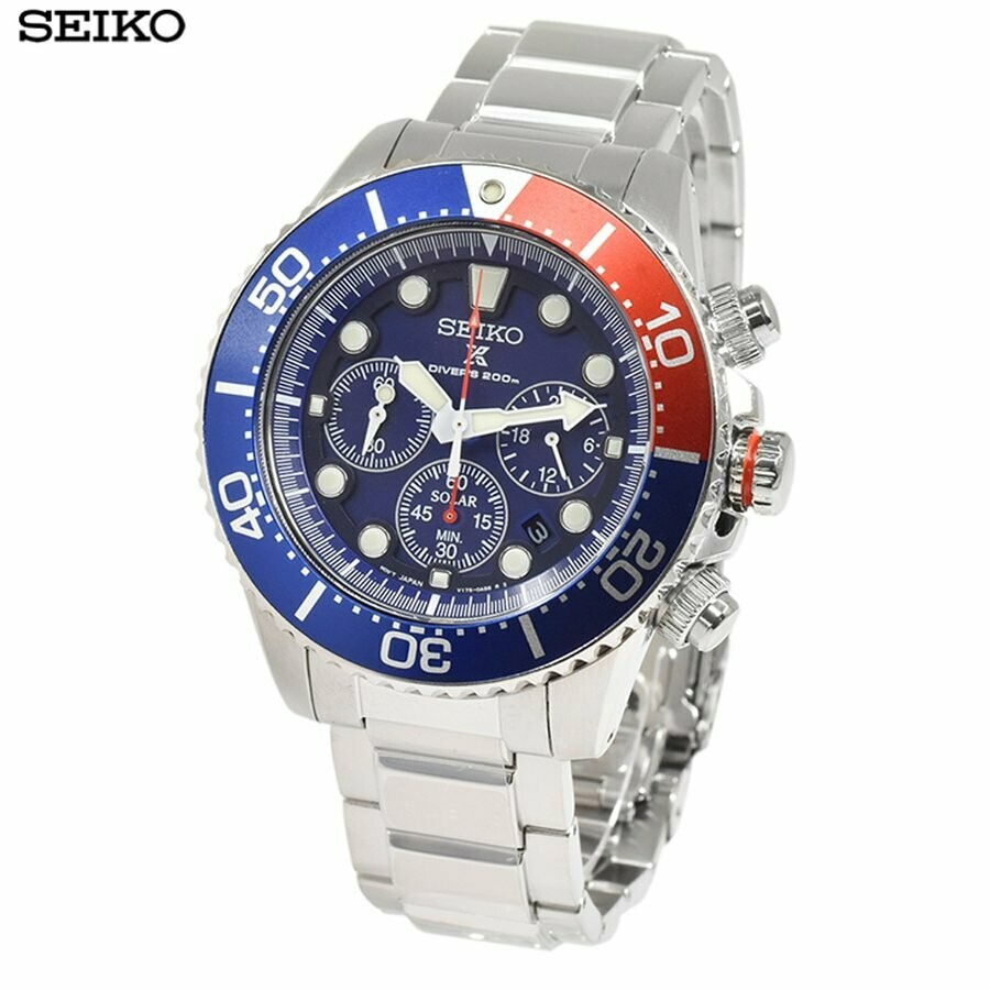 Reloj Buceo hombre Solar Seiko Solar Prospex SSC783P1 dial azul 43.5mm 200m WR correa acero Lumibrite
