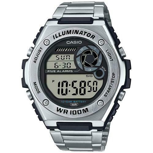 Reloj deportivo hombre Casio MWD-100HD-1AV Hora Mundial 5 Alarmas Despertador 10 años batería