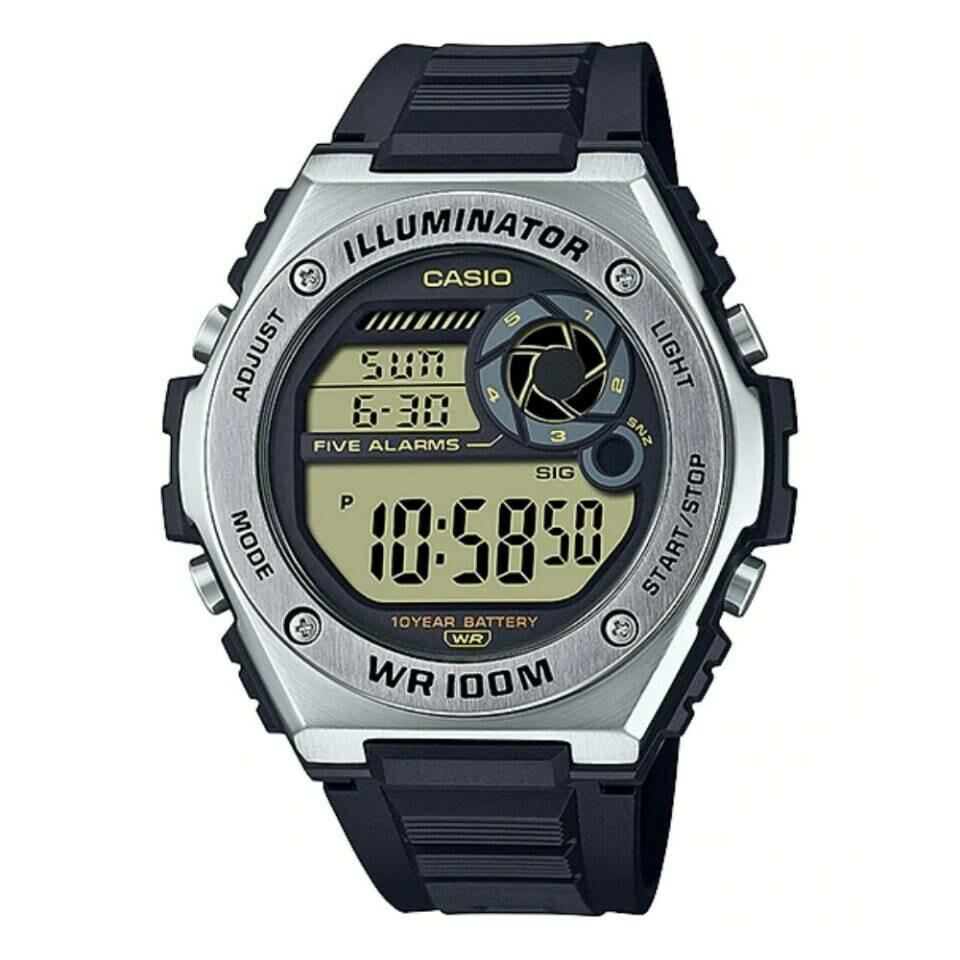 Reloj deportivo hombre Casio MWD-100H-9AV Hora Mundial 10 años batería Hora dual 100m WR