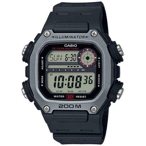 Reloj Deportivo Hombre Casio DW291H-1AV 10 años batería hora mundial 5 alarmas