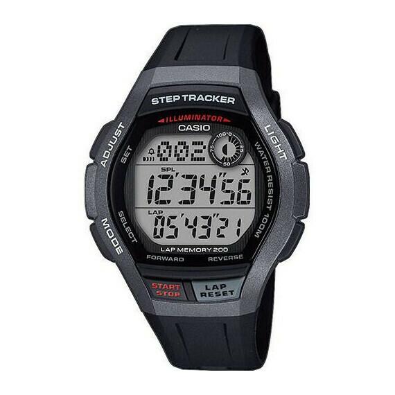 Reloj deportivo Casio WS-2000H-1AV Cuentapasos 200 Lap Memory 100m wr