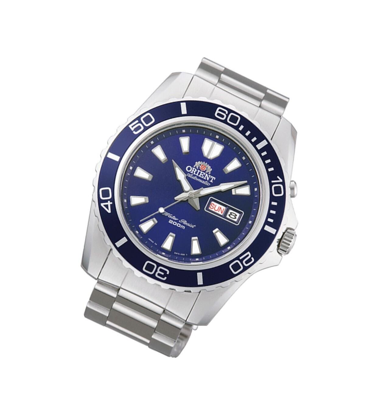 reloj automático hombre Orient Mako XL FEM75002D azul acero
