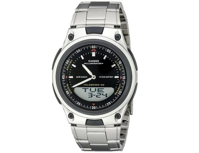 Reloj hombre CASIO aw-80d-1a Hora Mundial - 30 telememo - 10 años batería