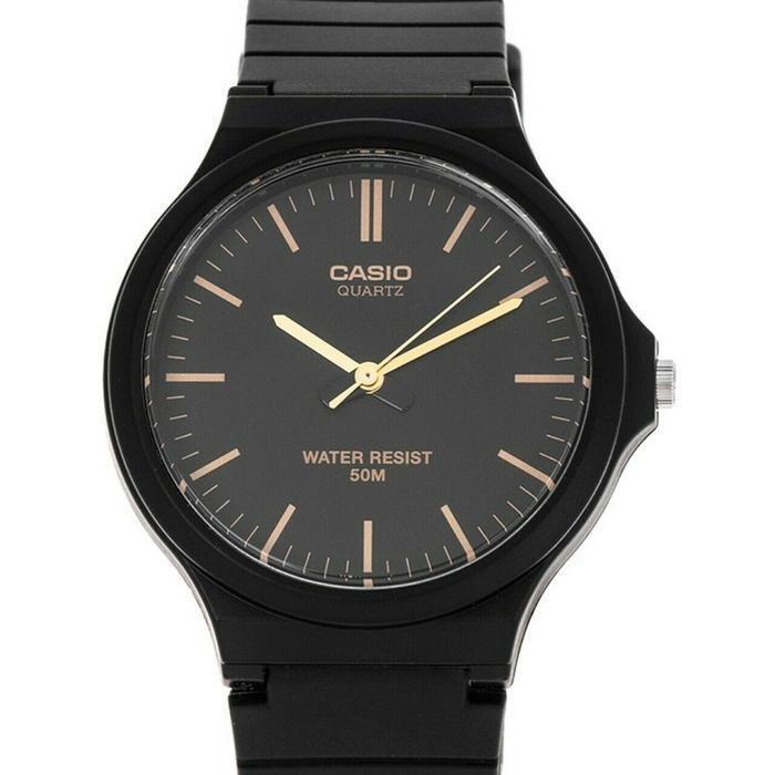 reloj clásico hombre Casio MW-240-1E2 dial negro correa resina