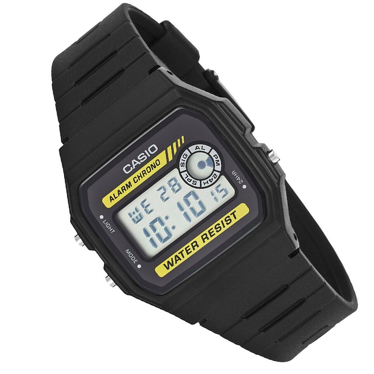 Reloj unisex digital Casio F-94WA-9D Alarma 7 años batería Luz Led Water Resist