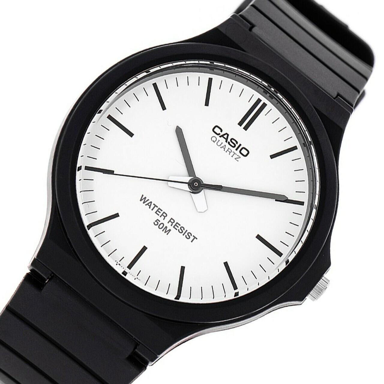 reloj clásico hombre Casio MW-240-7E dial blanco correa resina