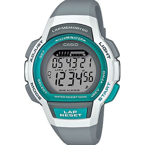 Reloj deportivo mujer Casio LWS-1000H-8A 60 Memory Lap Despertador 3 Alarmas diarias Cronómetro Luz Led Water Resist