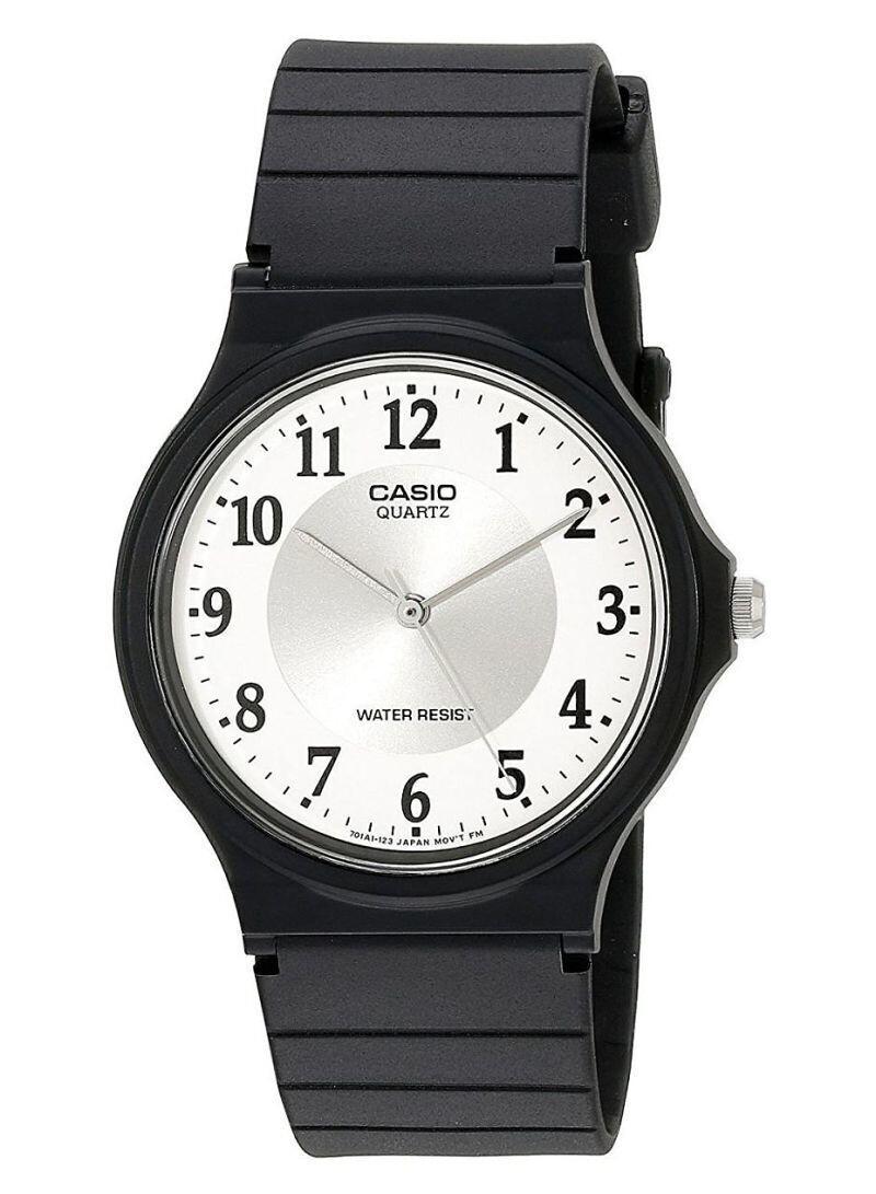Reloj hombre clásico analógico Casio MQ-24-7B3 dial blanco cuarzo