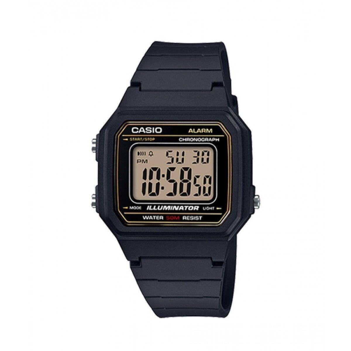 Reloj hombre militar Casio W217H-9AV correa goma negra