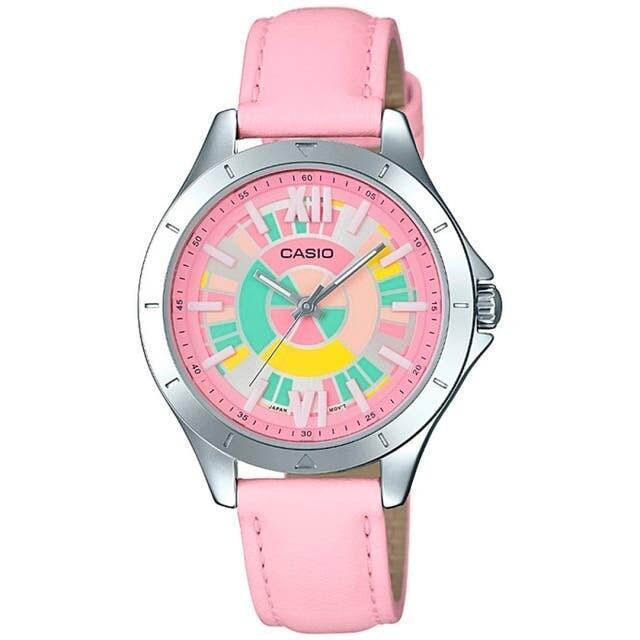 Reloj Casio Ltp-e129l-4a Analógico correa de piel