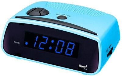 """DESPERTADOR SAMI AC MINI DIGITOS 0.6"""" azul"""
