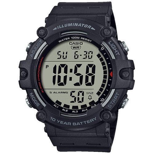 reloj deportivo digital hombre Casio AE-1500WH-1A luz led 10 años batería 5 alarmas