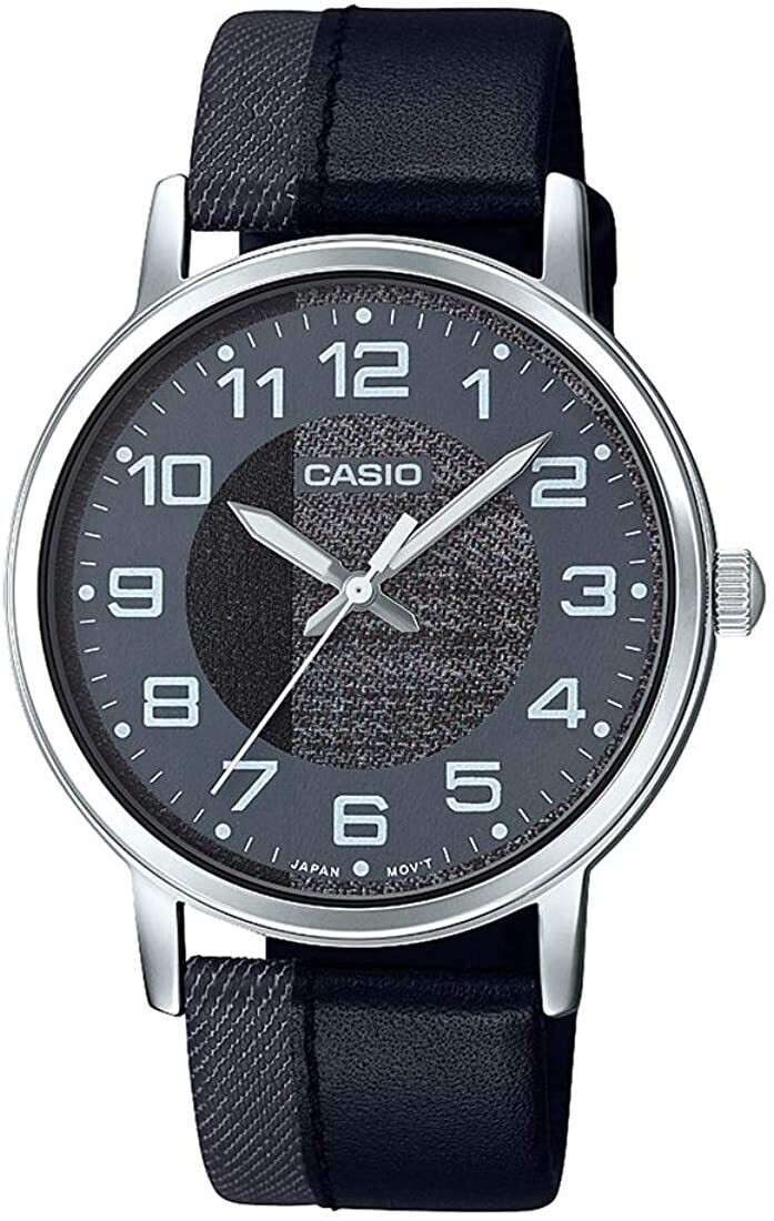 Reloj Casio diseño jeans MTP-E159l-1BD correa jeans