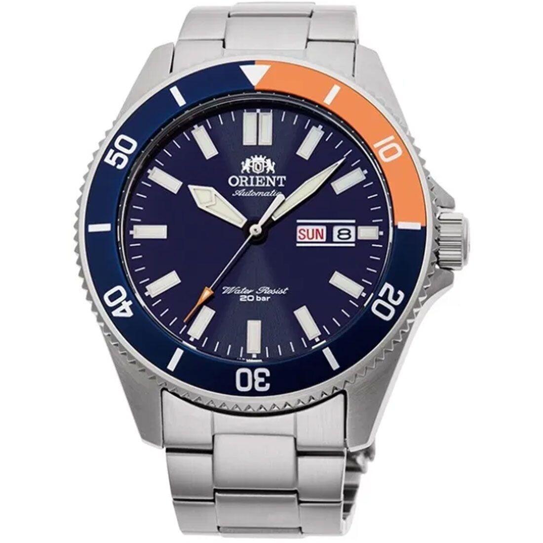 Reloj Automático hombre buceo Orient Kanno RA-AA0913L dial azul 44mm correa acero 200m WR