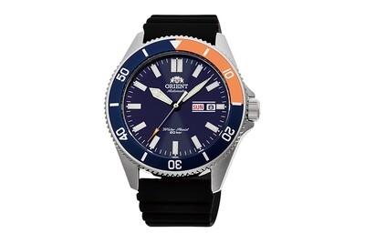 reloj automático hombre buceo Orient Kanno RA-AA0916L dial azul 43.6mm correa caucho 200m Water Resist