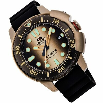 reloj automático hombre Orient M-Force RA-AC0L05G Limited Edition dial 45mm correa goma 200m water resist