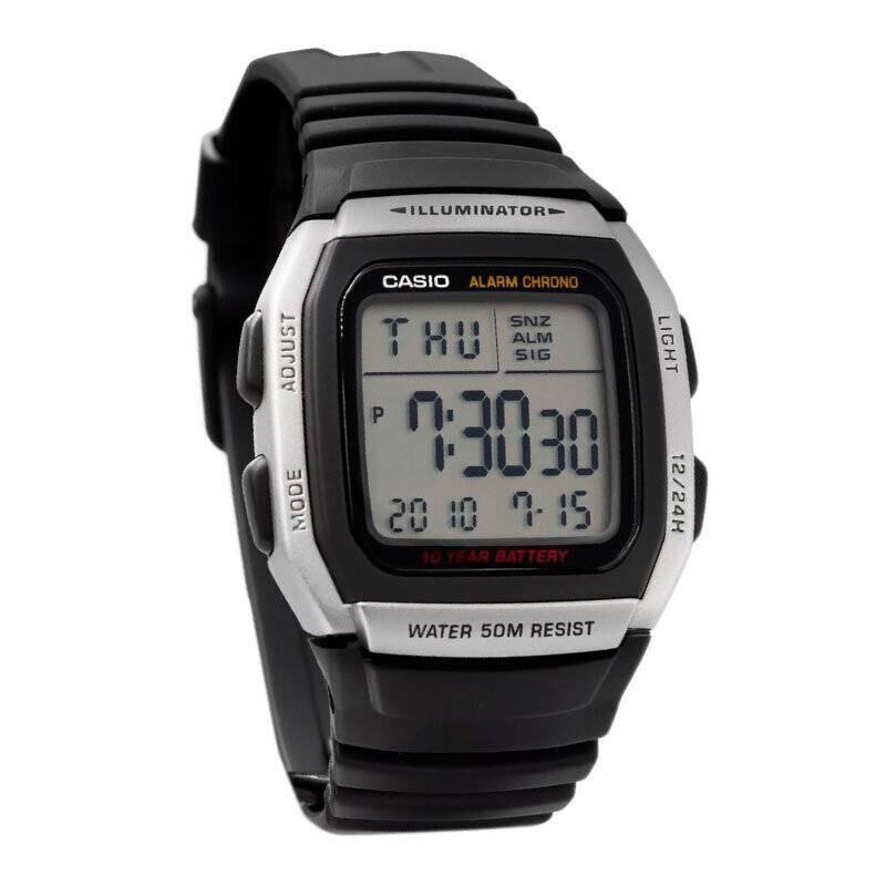 reloj hombre digital Casio W-96H-1AV alarma múltiple 10 años batería cronómetro 50m water resist