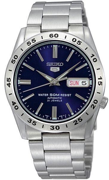 reloj automático hombre Seiko SNKD99K1 dial azul 37mm correa acero 50m water resist