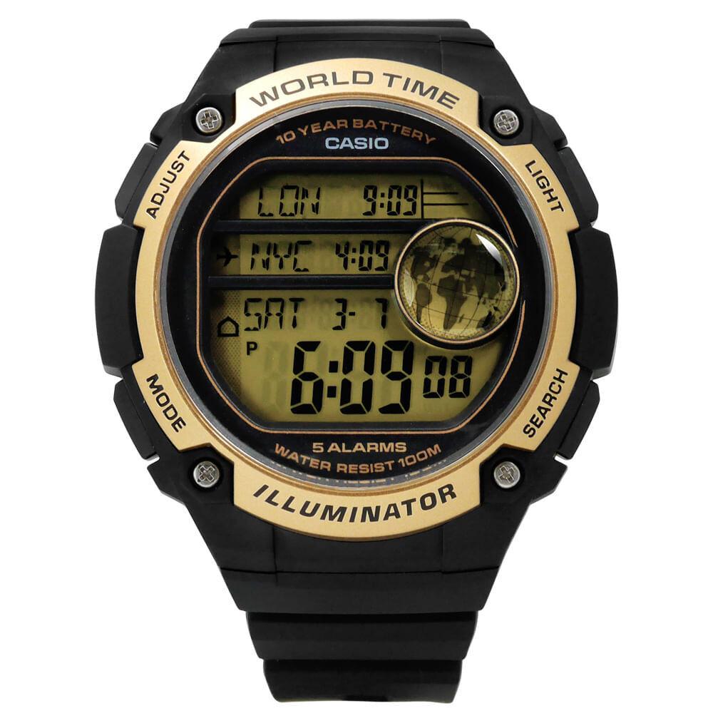 Reloj digital CASIO AE-3000W-9A world time