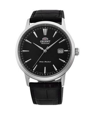 reloj automático hombre Orient Simphony RA-AC0F05B dial negro 41.6mm correa cuero