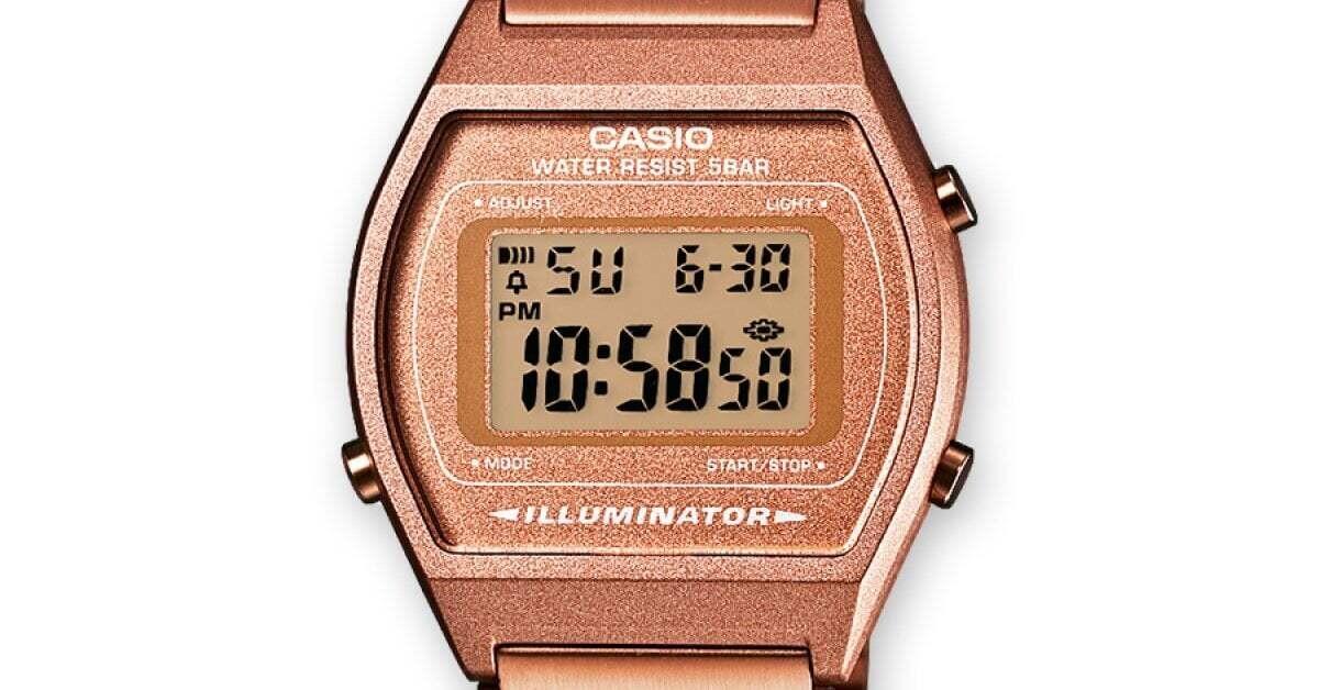 Reloj Retro casio VINTAGE EDGY B640WC-5A bronce retro