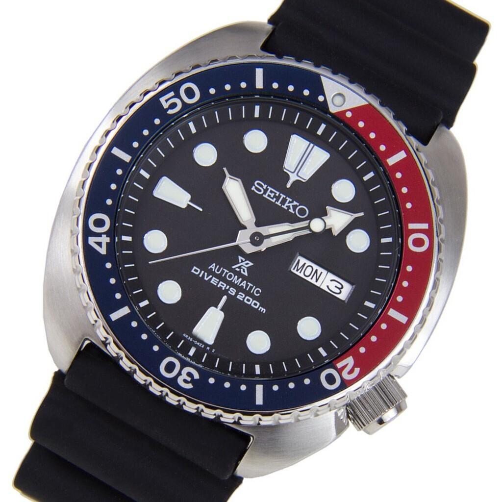 reloj automático buceo hombre Seiko Prospex Turtle SRPE95K1 dial negro 45mm correa silicona 200m water resist
