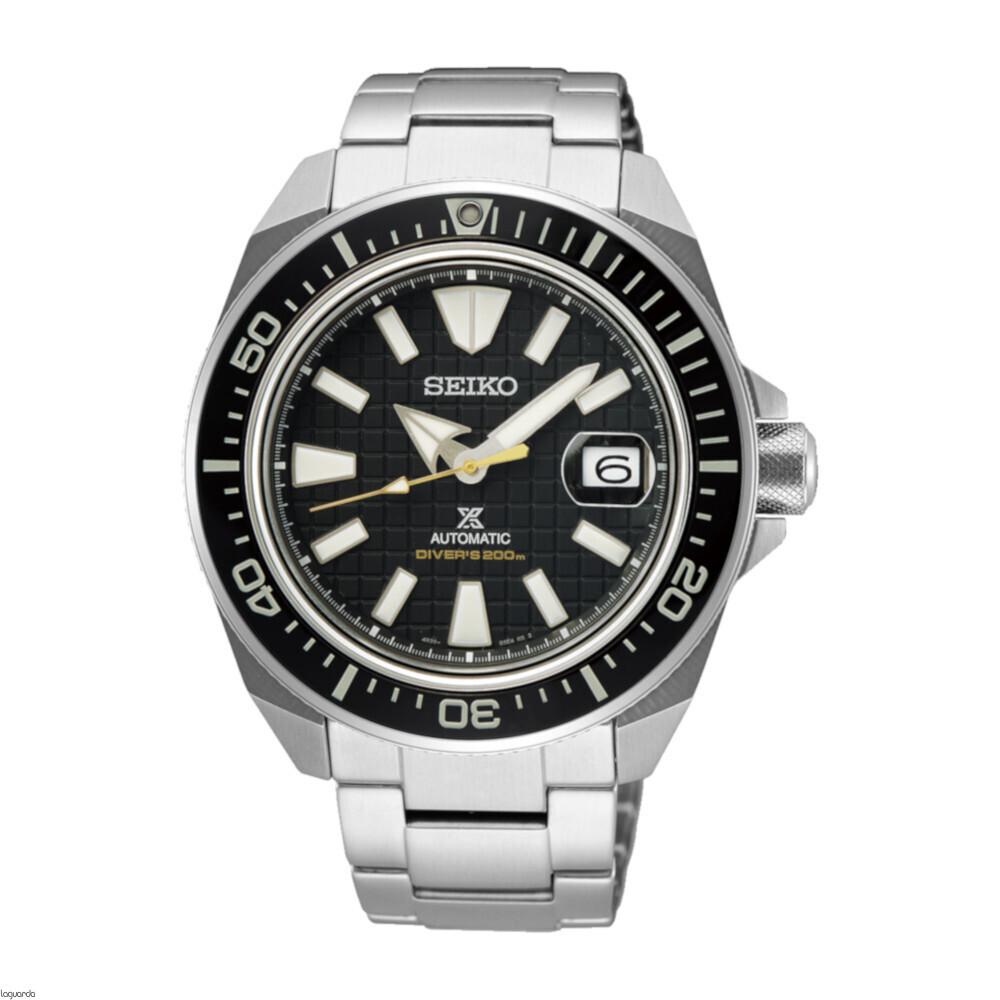 reloj hombre automático Seiko Prospex King Samurai SRPE35K1 dial negro 43.8mm cristal zafiro