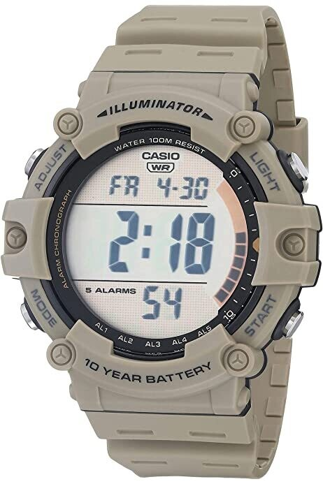 Reloj de Pulsera CASIO AE-1500wh-5av Digital para Hombre Color Gris