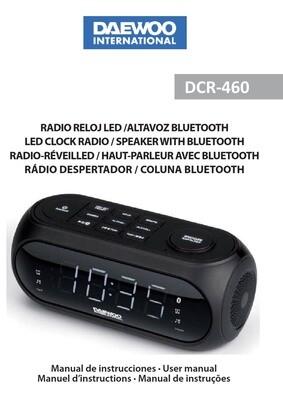RADIO RELOJ DAEWOO DCR-460 BLUETOOTH + USB FM Pantalla LED Alarma Dual