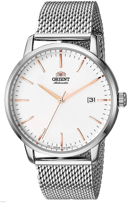 reloj automático hombre Orient Maestro RA-AC0E07S dial blanco 40mm correa acero malla