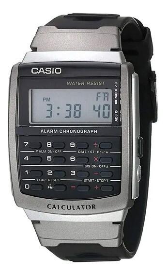 Reloj Casio Databank CA56-1 calculadora alarma hora dual correa goma
