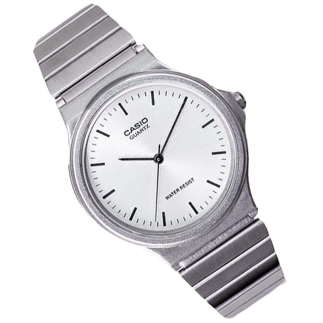 reloj hombre Casio MQ-24D-7E correa acero clásico cierre ajustable