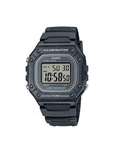 Reloj CASIO digital unisex W-218h-8av correa resina 50m water resist - alarma - luz