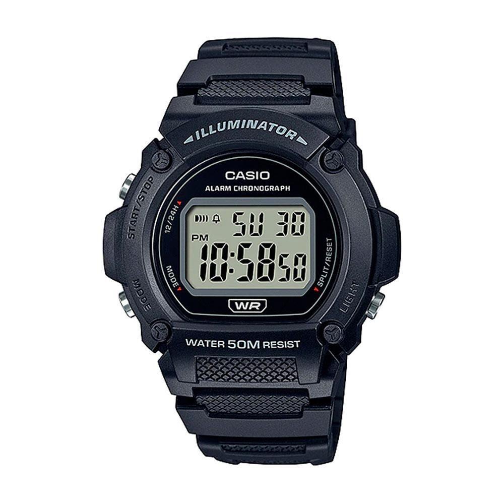 Reloj deportivo hombre Casio W219h-1A Luz LED Cronómetro alarma 50m Water Resist