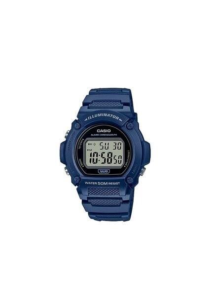 Reloj deportivo hombre Casio W219h-2A Luz LED Cronómetro alarma 50m Water Resist