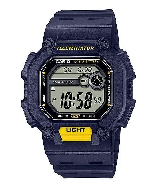 Reloj deportivo hombre Casio W737H-2A Luz LED 10 años batería Hora Dual 100m Water Resist