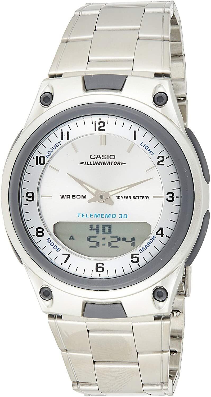 reloj hombre CASIO aw-80d-7a Hora Mundial - 30 telememo - 10 años batería