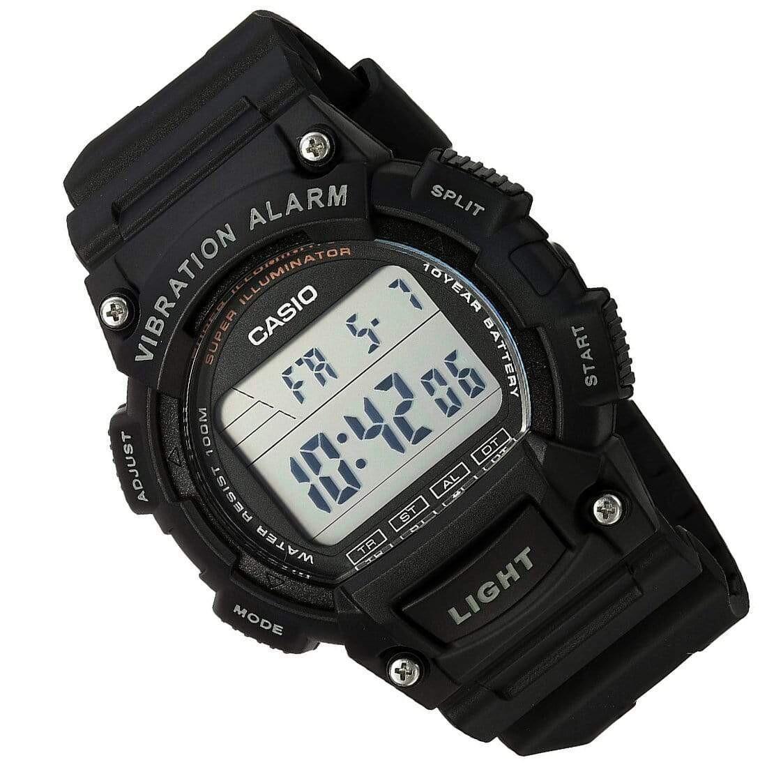 reloj deportivo Casio W-736H-1AV Alarma Vibratoria Super Illuminator 100m resistente al agua