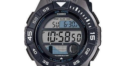 Reloj deportivo hombre Casio WS-1100H-1AV Fases Lunares Mareas cronómetro 10 años batería