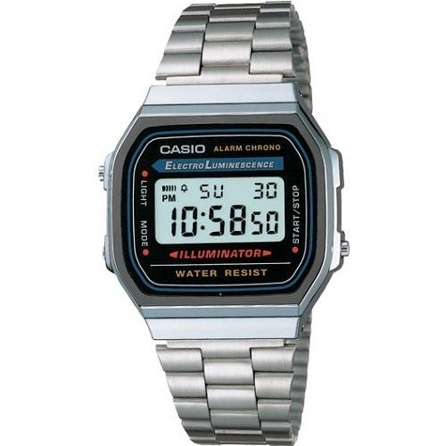 Reloj clasico retro collection CASIO A168WA-1YES multifuncional