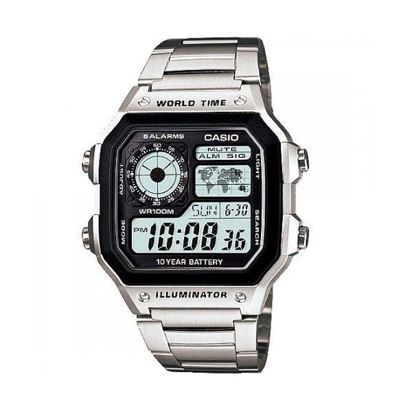 Reloj hombre CASIO AE-1200WHD-1AV World Time 10 year battery